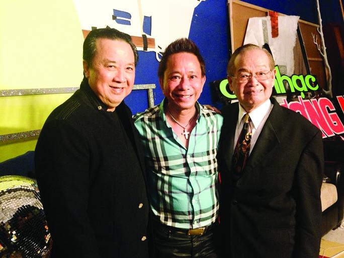 Nghệ sĩ Văn Chung cùng 2 danh hài Bảo Quốc, Bảo Chung từng noi theo kiểu hề dê như ông. Ảnh: Thanh hiệp