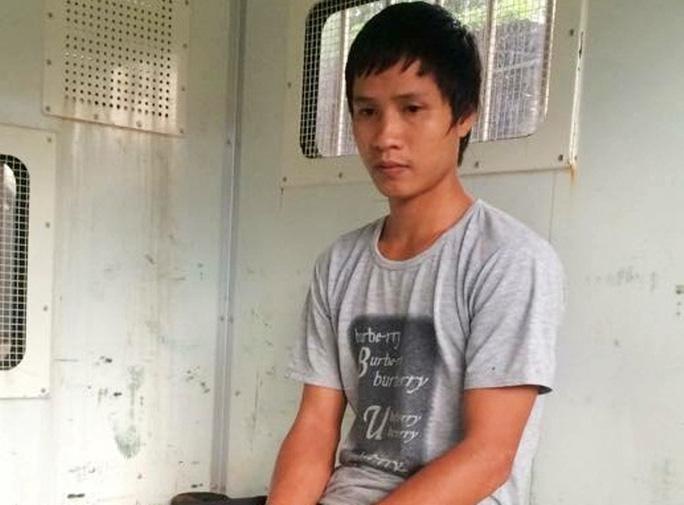 Đối tượng Nguyễn Ngọc Anh, tại cơ quan công an.