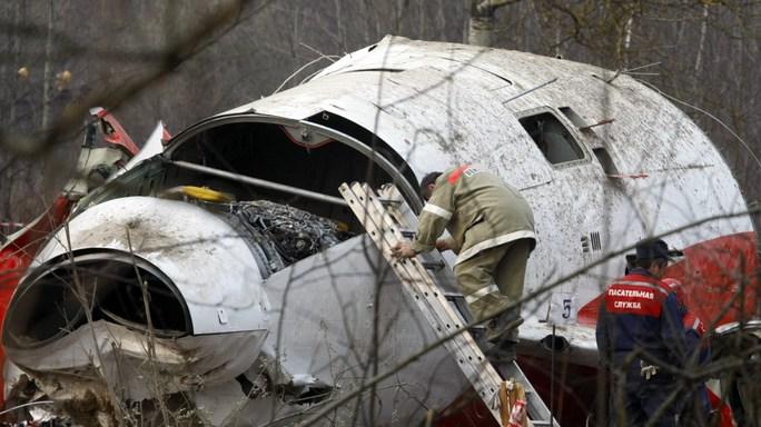 Chiếc máy bay bị rơi năm 2010. Ảnh: AP
