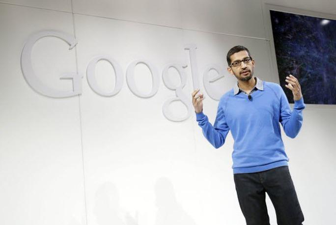 Ông Sundar Pichai sẽ đảm nhận trọng trách lớn nhất tại Google, công ty con của Alphabet. Ảnh: AP