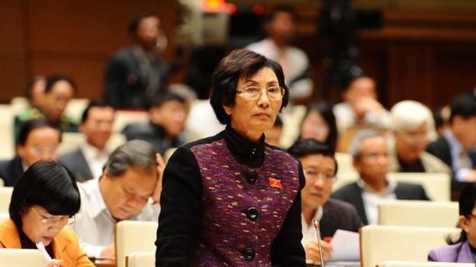 Đại biểu Bùi Thị An (Hà Nội) chất vấn tại kỳ họp thứ 8, Quốc hội khóa XIII