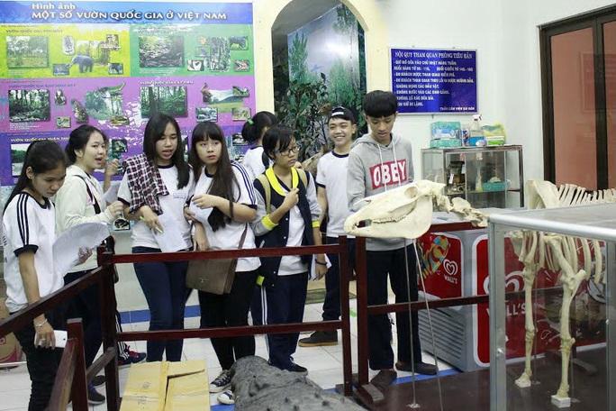 Học sinh Trường THPT Lê Thị Hồng Gấm (quận 3, TP HCM) trong giờ học ngoại khóa ở Thảo Cầm Viên Ảnh: HOÀNG TRIỀU