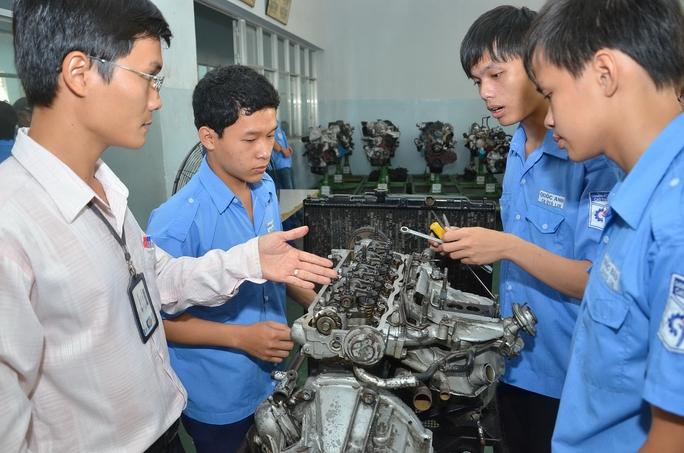 Học viên thực hành tại Trường CĐ Kỹ thuật Cao Thắng (TP HCM)Ảnh: Tấn Thạnh
