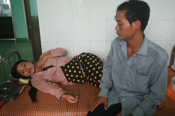 Bệnh hân nghi nhiễm bệnh bạch hầu lúc đang điều trị tại Trung tâm Y tế huyện Phước Sơn