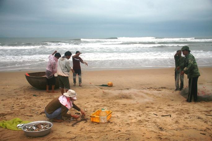 Bãi biển ở xã Bình Minh, nơi xảy ra vụ chết đuối thương tâm