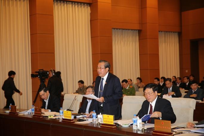 Chánh án TAND Tối cao Trương Hòa Bình trả lời chất vấn sáng 13-3