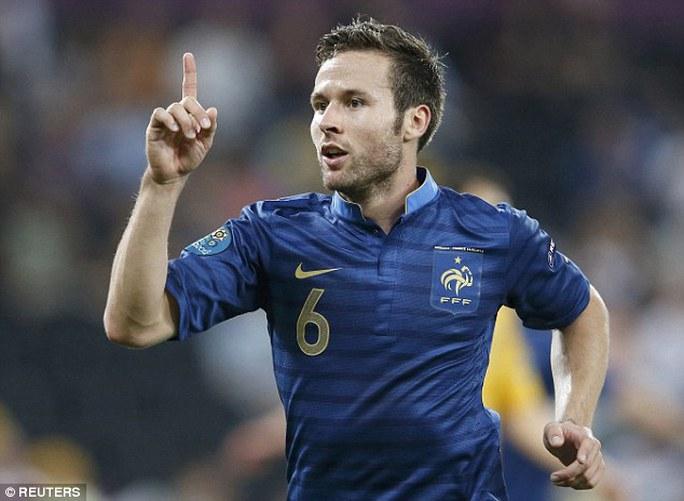 Cabaye là tiền vệ năng nổ của tuyển Pháp