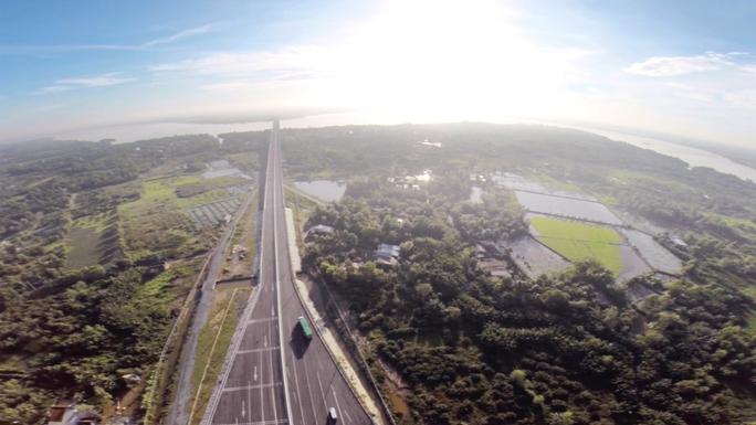 Đường cao tốc TP HCM- Long Thành- Dầu Giây nhìn từ trên cao