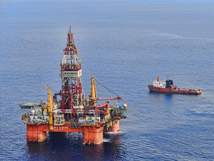 Giàn khoan Hải Dương 981 trên Biển Đông vào tháng 5-2012 - Ảnh: Xinhua