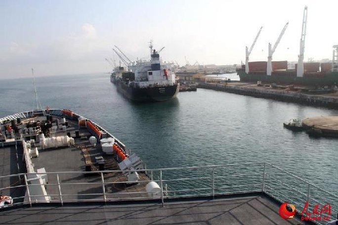 Một tàu hải quân Trung Quốc đến Djibouti vào năm ngoái