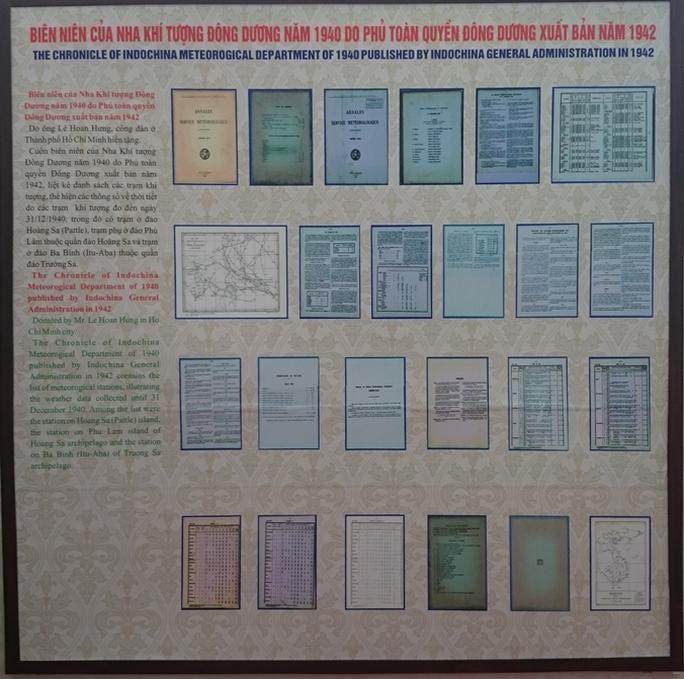 Biên niên khí tượng do Phủ Toàn quyền Đông Dương xuất bản năm 1942 thể hiện 2 quần đảo Hoàng Sa, Trường Sa là của Việt Nam