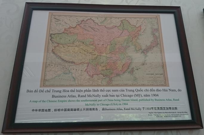 Trước đó, bản đồ của đế chế Trung Hoa do Business Atlas, Rand McNally xuất bản tại Chicago (Mỹ) chỉ có phần lãnh thổ đến đảo Hải Nam, không có hoàng Sa, Trường Sa.