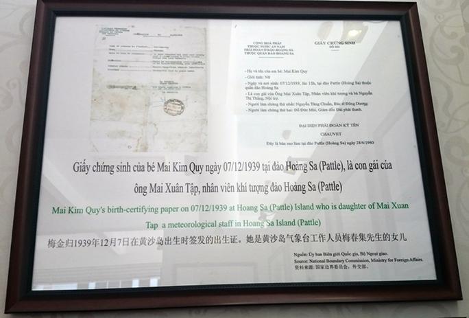 Giấy chứng sinh của một công dân Việt Nam tại Hoàng Sa, năm 1930. Thêm một bằng chứng về chủ quyền Hoàng sa là của Việt Nam