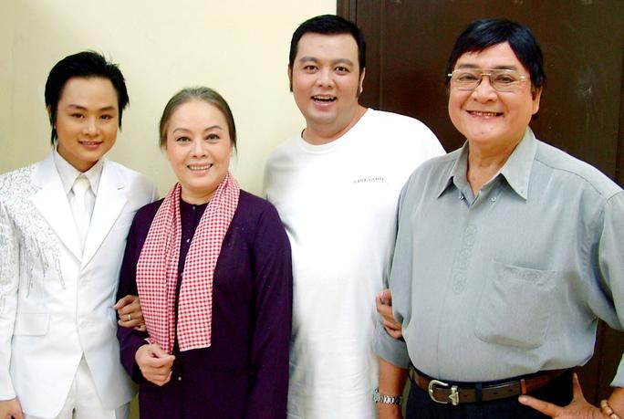 NSƯT Thanh Nguyệt và ca sĩ Đông Quân, NS hài Bình Mập, NSƯT Hùng Minh tham gia trong vở Lan và Điệp