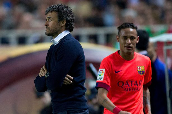 HLV Enrique và Neymar