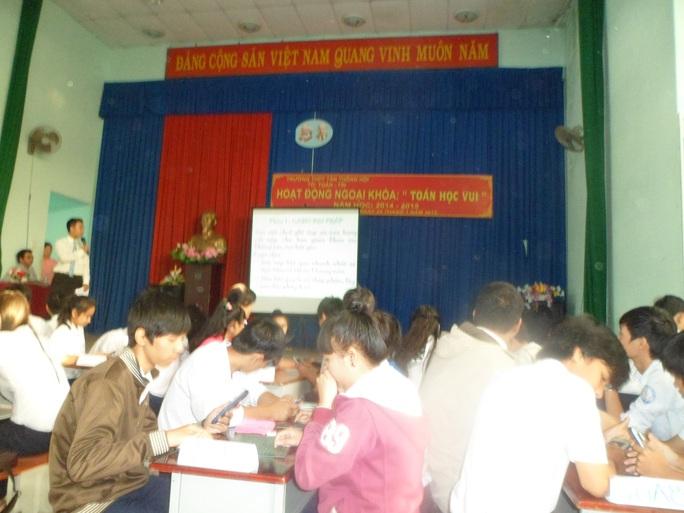 Học sinh Trường THPT Tân Thông Hội. Ảnh: Đ. Trinh