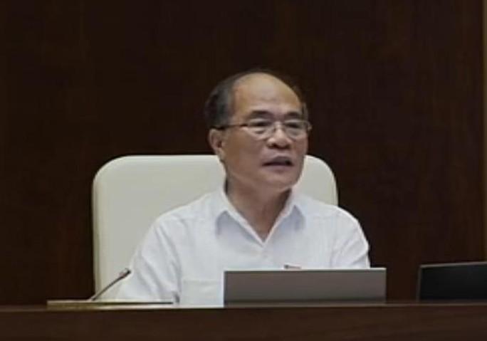 Chủ tịch QH Nguyễn Sinh Hùng đề nghị các Bộ trưởng, thành viên Chính phủ trả lời thẳng vào vấn đề, ngắn gọn, rõ ràng, đưa ra được kiến giải, giải pháp thiết thực