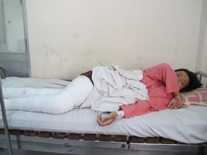 Nạn nhân Lê Thị Bích Vân, bạn gái Giàu cũng bị phỏng