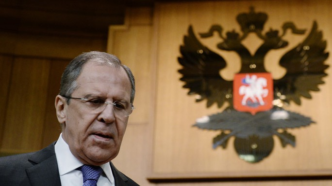Russias Foreign Minister Sergey Lavrov prior to the beginning of a press-conference summarizing the results of the Russian diplomacy in 2014.(RIA Novosti / Maxim Blinov)
