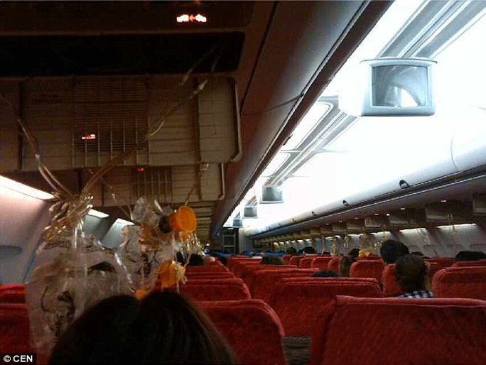 Oriental Thai Airlines flight OX682 was carrying holidaymakers from Phuket, Thailand to Chengdu, China