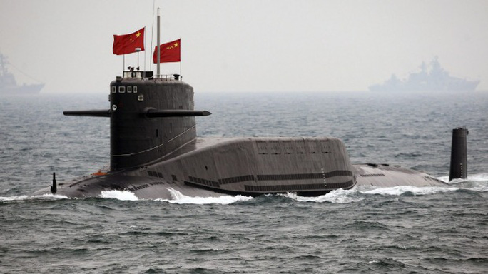 A Chinese Navy nuclear submarine.