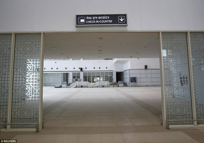 Built nearly three years ago at a cost of £10.8million ($17million), the terminal in India's north-western Rajasthan state, remains closed