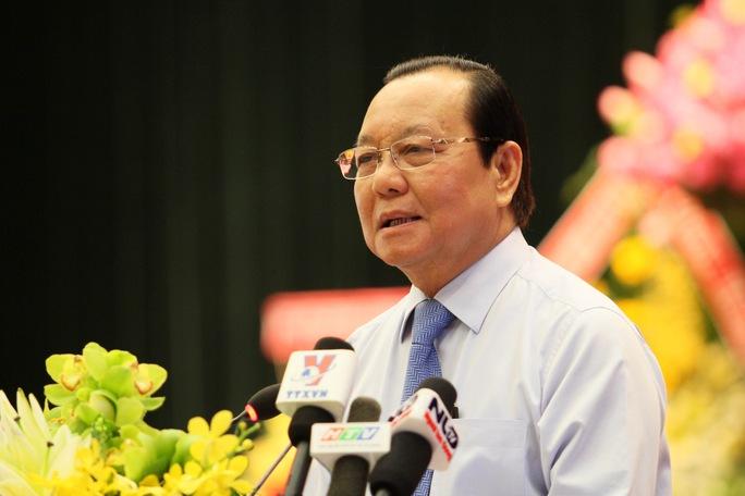 Ông Lê Thanh Hải, Ủy viên Bộ Chính trị, Bí thư Thành ủy TP HCM Ảnh: HOÀNG TRIỀU