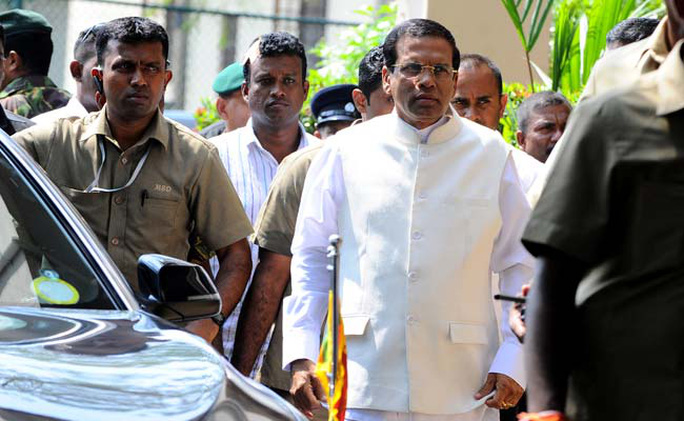 Tổng thống Shri Lanka Maithripala Sirisena. Ảnh: NDTV