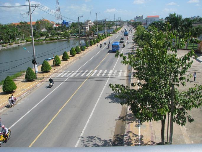 Một góc thị xã Giá Rai