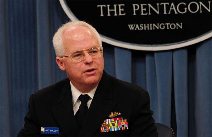 Phó Đô đốc Hải quân Mỹ Joseph Mulloy. Ảnh: Hải quân Mỹ