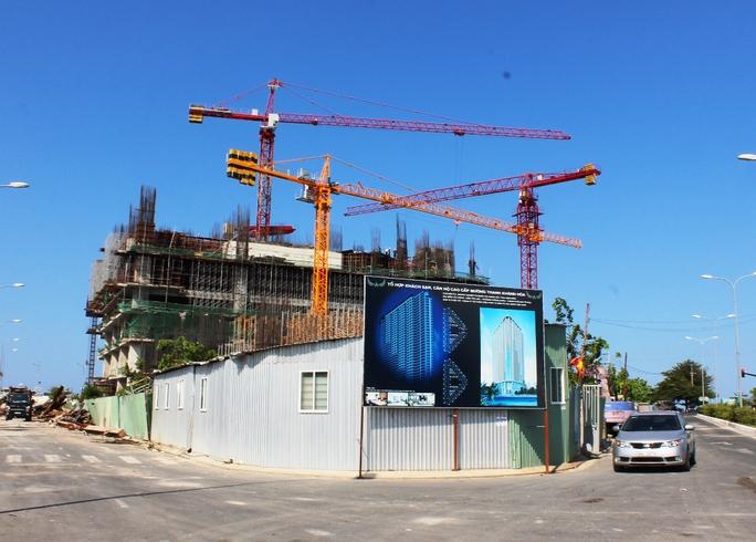 Công trình Mường Thanh Khánh Hòa ở phía Nam cầu Trần Phú đã xây được 6 tầng