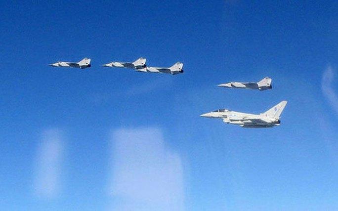 Các chiến đấu cơ Nga trên biển Baltic. Ảnh: MoD