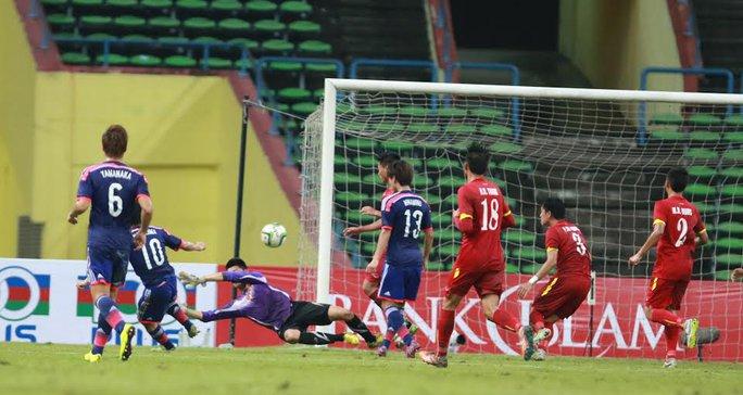 Khung thành thủ môn Minh Long luôn đặt trong trình trạng nguy hiểm