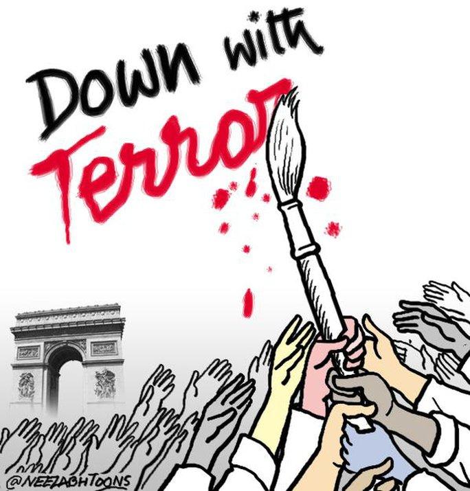 Vụ tấn công khủng khiếp. Họa sĩ biếm khắp thế giới cùng nhau chống lại đổ máu và bạo lực