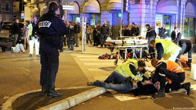 Hiện trường vụ đâm xe ở TP Dijon vào tháng rồi. Ảnh: DPA