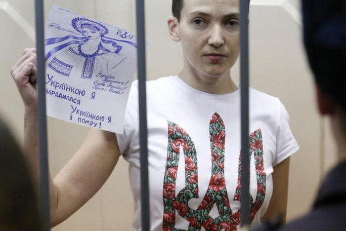 Nadia Savchenko trong nhà tù ở Nga. Ảnh: Reuters