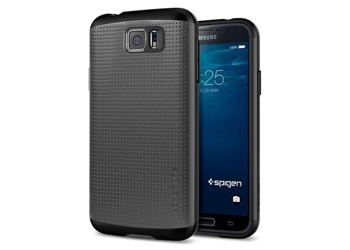 Chiếc điện thoại bên trong 4 bộ vỏ bảo vệ của Spigen xuất hiện trên cửa hàng Amazon được cho là Galaxy S6.
