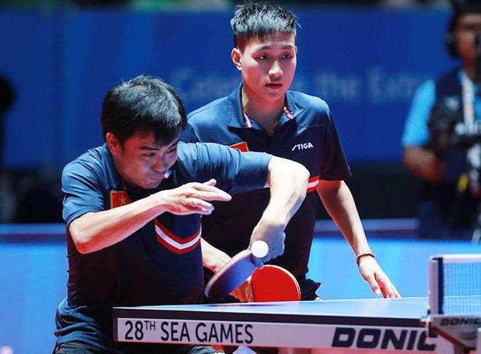 Tuấn Quỳnh-ANh Tú đã không thể tạo nên bất ngờ cho bóng bàn Việt Nam trước Singapore quá mạnh