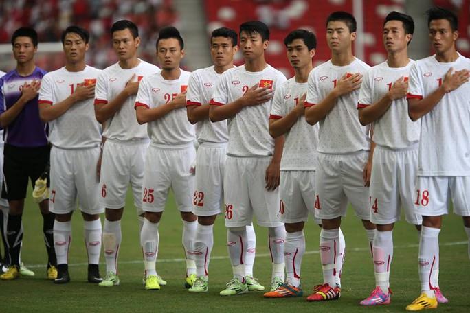 U23 Việt Nam trong trận thua U23 Myanmar