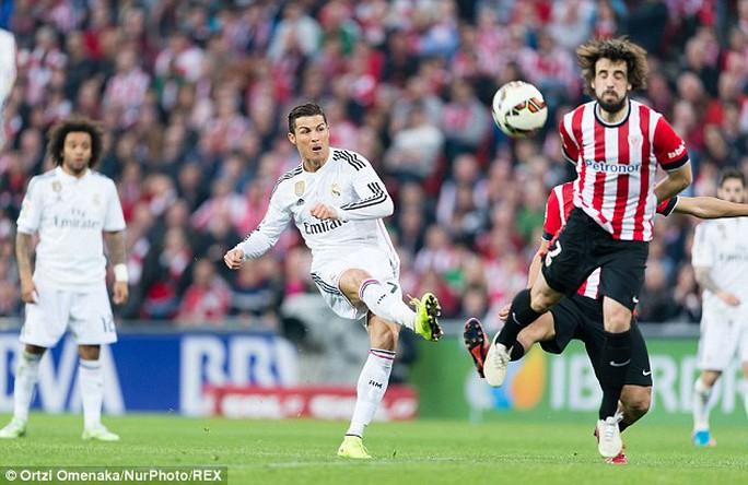 Ronaldo kh6ng có một sút nào ra hồn trong trận Real Madrid thua Bilbao