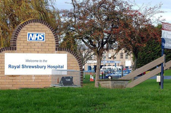 Bệnh viện Hoàng gia Shrewsbury. Ảnh: Mirror