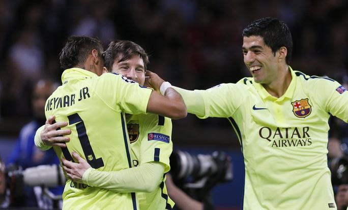 Messi, Neymar và Suarez đang có phong độ tuyệt vời
