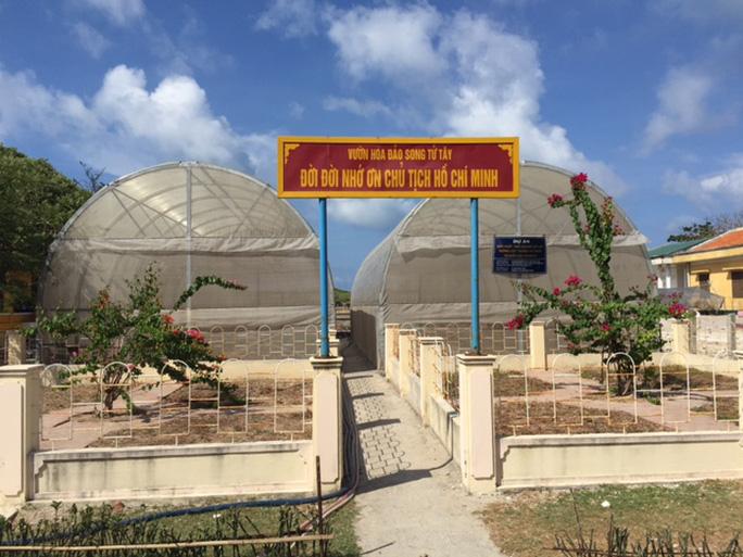 Đảo Song Tử Tây còn có Vườn hoa sản xuất thử nghiệm một số giống cây trồng tại quần đảo Trường Sa