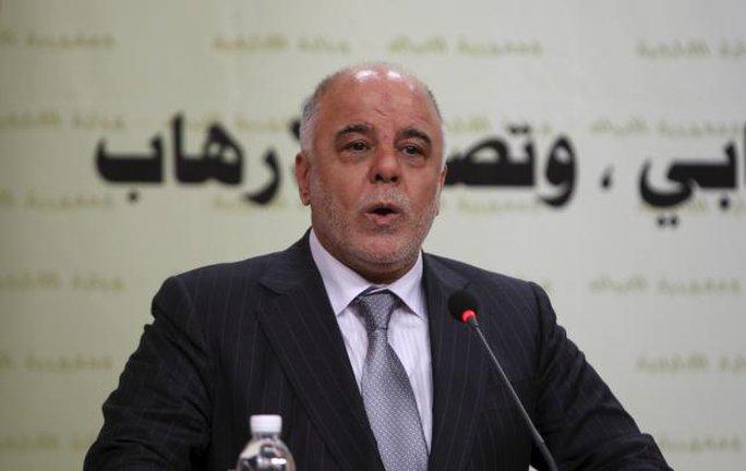 Thủ tướng Iraq Haidar al-Abadi tìm kiếm sự hỗ trợ vũ khí từ Mỹ. Ảnh: Reuters