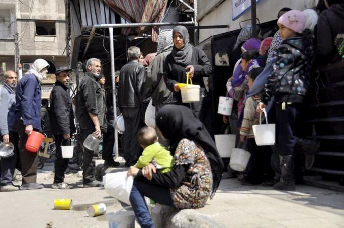 Trại tị nạn Yarmouk ở Syria. Ảnh: Reuters