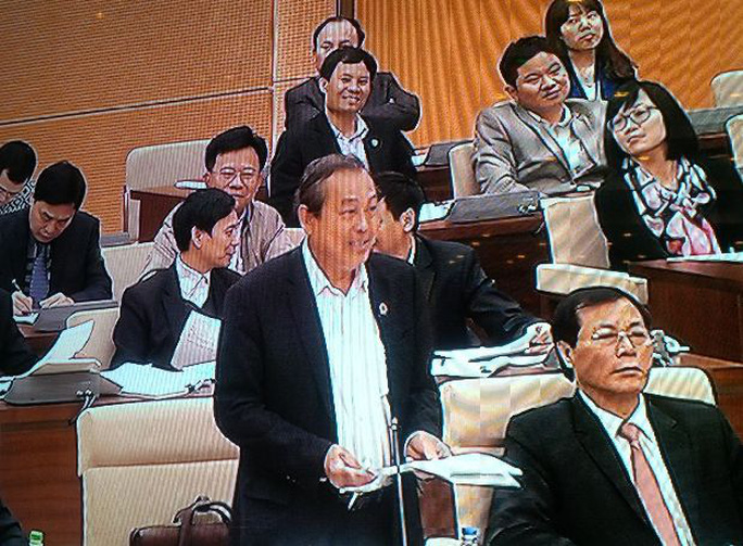 Chánh án Tòa án Nhân dân Tối cao Trương Hòa Bình phát biểu
