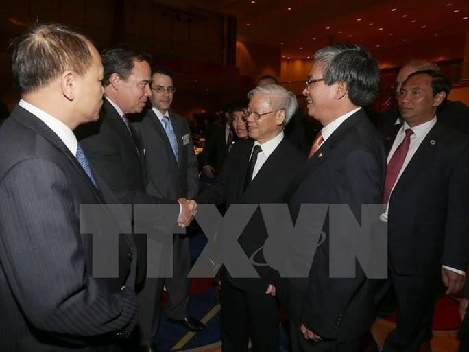 Tổng Bí thư Nguyễn Phú Trọng gặp gỡ đại diện các tầng lớp xã hội Việt Nam-Mỹ - Ảnh: TTXVN
