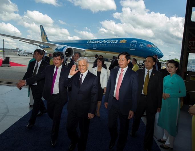 Tổng Bí thư Nguyễn Phú Trọng dự Lễ bàn giao Boeing 787-9 Dreamliner đầu tiên cho Việt Nam