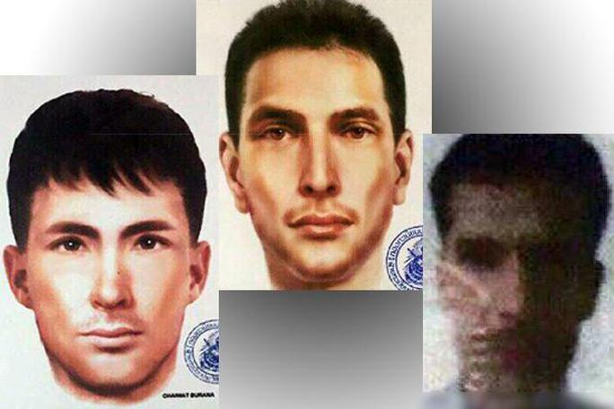 Phác họa chân dung 3 nghi phạm mới được cảnh sát công bố hôm 1-9. Ảnh: Bangkok Post