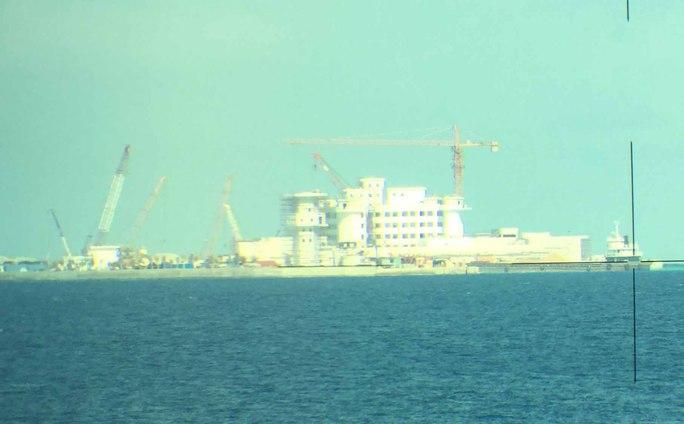 Một công trình kiên cố mà Trung Quốc xây dựng trái phép trên đảo Huy Gơ thuộc quần đảo Trường Sa của Việt NamẢnh: Lương Duy Cường